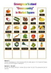 English Worksheet: At the greengrocer�s 4/4