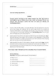 English worksheet: REVISION WORKSHEET FOR GRADE 8