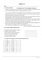 English Worksheet: Test on Sports (Football-hooliganism) 8th Form