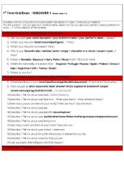 English Worksheet: Questions-based oral exam