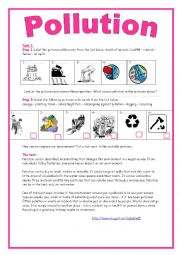 English Worksheet: 9th form module 3 lesson 3 Pollution A Threat To Our Environment
