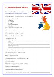 English Worksheet: An introduction to Britain - Video Session