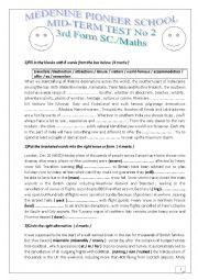 English Worksheet: 3rd form language