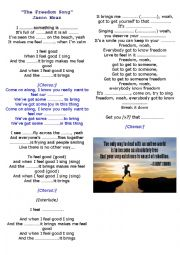 English Worksheet: The Freedom Song By Jason Mraz