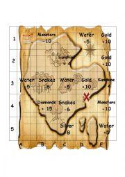English worksheet: Treasure Island Activity
