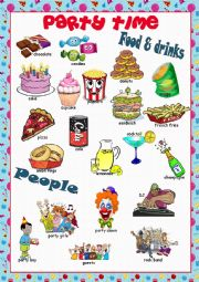 English Worksheet: Party Time Picture Dictionary#2