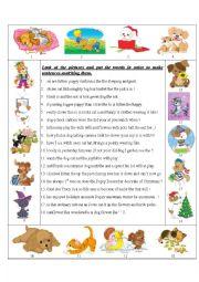 English Worksheet: Word order.