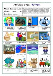 English Worksheet: IDIOMS WITH