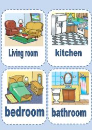 English Worksheet: parts of house and furniture