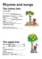 English Worksheet: Rhymes and Songs with gaps