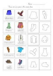 Trace cut and paste clothes