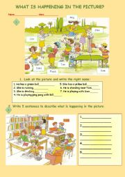 English Worksheet: Picture Description