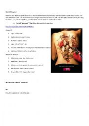 English Worksheet: The Art of Tattoo. Part 3: Miami Ink