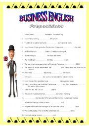 BUSINESS ENGLISH 1 - Prepositions