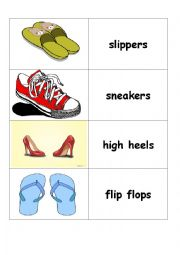 English Worksheet: Shoes Flashcard