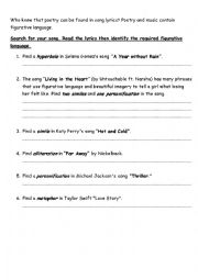 literary terms figurative language quiz esl worksheet by nylak22. Black Bedroom Furniture Sets. Home Design Ideas