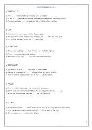 English Worksheet: WORD FORMATION - CAE USE OF ENGLISH PART 3