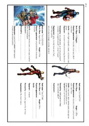 English Worksheet: SUPERHEROES - interactive speaking