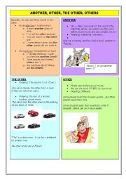 English Worksheet: Another, other, the other, others