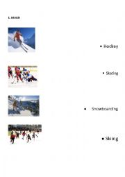 English Worksheet: Winter Sports