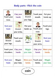 English Worksheet: Board game about body parts