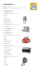 English Worksheet: Practice about Electrical appliances