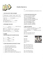 English Worksheet: Maps by Maroon 5