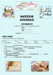 English Worksheet: BUTTER COOKIES (KEY)