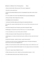 English worksheets: all quiet on the western front