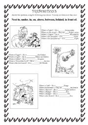 Winnie the Pooh and prepositions
