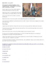English Worksheet: BBC NEWS Argentina July 2014|