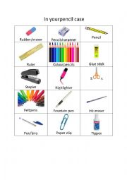 In your pencil case