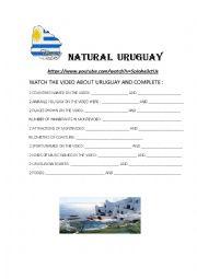 English Worksheet: Natural Uruguay