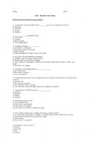 Printables Number The Stars Worksheets number the stars worksheets davezan english multiple choice questions