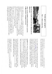 English Worksheet: Martin Luther King´s fight against segregation
