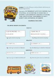 Speaking sheet - Weekend activities