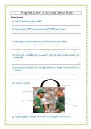 english worksheets the apartheid and sports nelson mandela and fran ois piennar. Black Bedroom Furniture Sets. Home Design Ideas