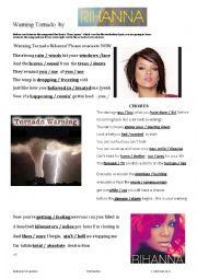English Worksheet: Tornado Warning by Rihanna