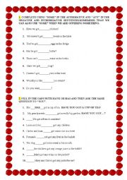 English Worksheet: EXERCISES ON FOOD, SOME AND ANY, THERE IS AND THERE ARE