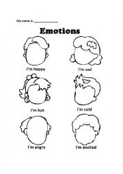 Feelings And Emotion Face Draw Esl Worksheet By Socalchillin