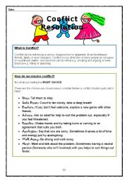 Worksheet Conflict Resolution Worksheets english worksheets conflict resolution worksheet resolution