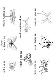 english worksheets bugs worksheets page 5. Black Bedroom Furniture Sets. Home Design Ideas