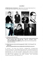 James Bond - Comparatives, Discussion, Writing