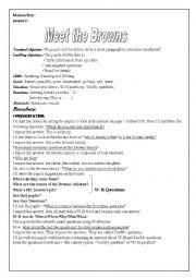 English Worksheet: module 1 lesson 1