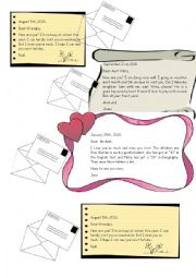 English Worksheet: Correspondence
