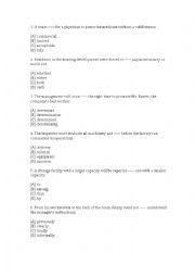 English Worksheet: TOEIC practice