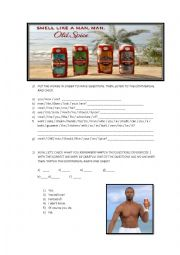 English Worksheet: Old Spice commercial