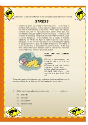 Reading comprehension-Stress
