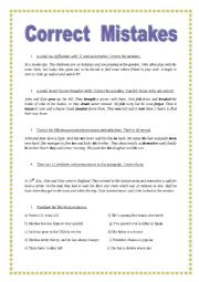 english worksheets correct grammatical mistakes key included. Black Bedroom Furniture Sets. Home Design Ideas