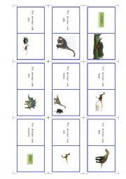 english worksheets dinosaur domino. Black Bedroom Furniture Sets. Home Design Ideas